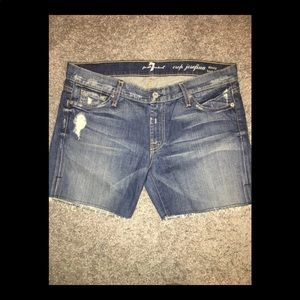7 For All Mankind Jean denim shorts vintage